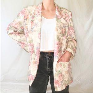 Vintage 90s Pastel Floral Blazer